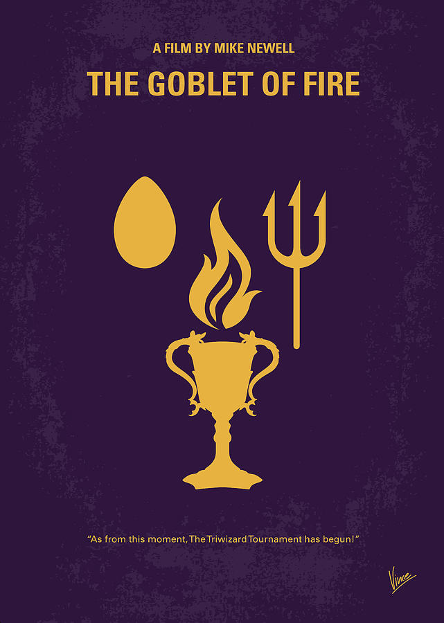 Goblet Digital Art - No101-4 My Hp - Goblet Of Fire Minimal Movie Poster by Chungkong Art