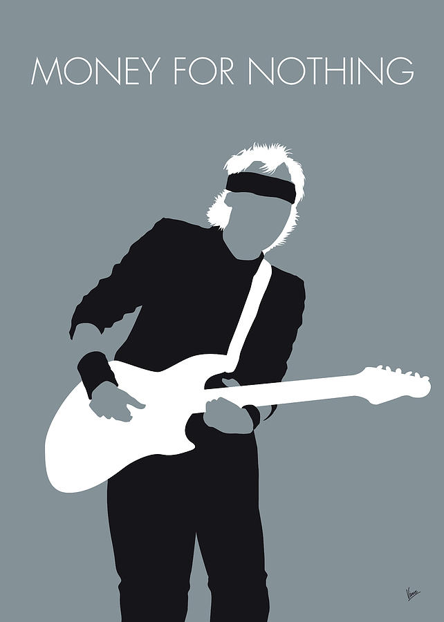 Mark Digital Art - No107 My Mark Knopfler Minimal Music Poster by Chungkong Art