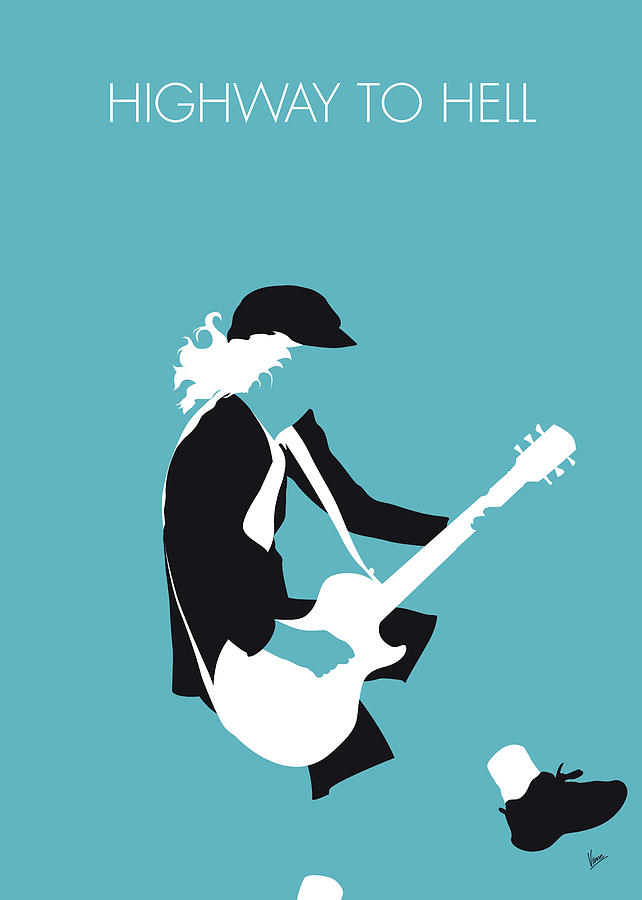 Acdc Digital Art - No125 My Acdc Minimal Music Poster by Chungkong Art