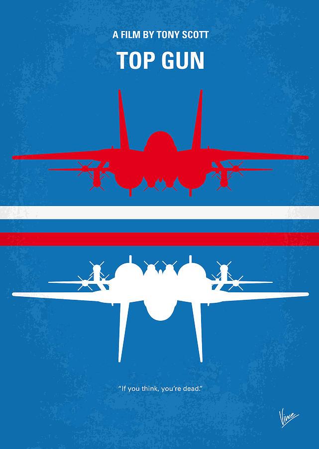 Top Digital Art - No128 My Top Gun Minimal Movie Poster by Chungkong Art