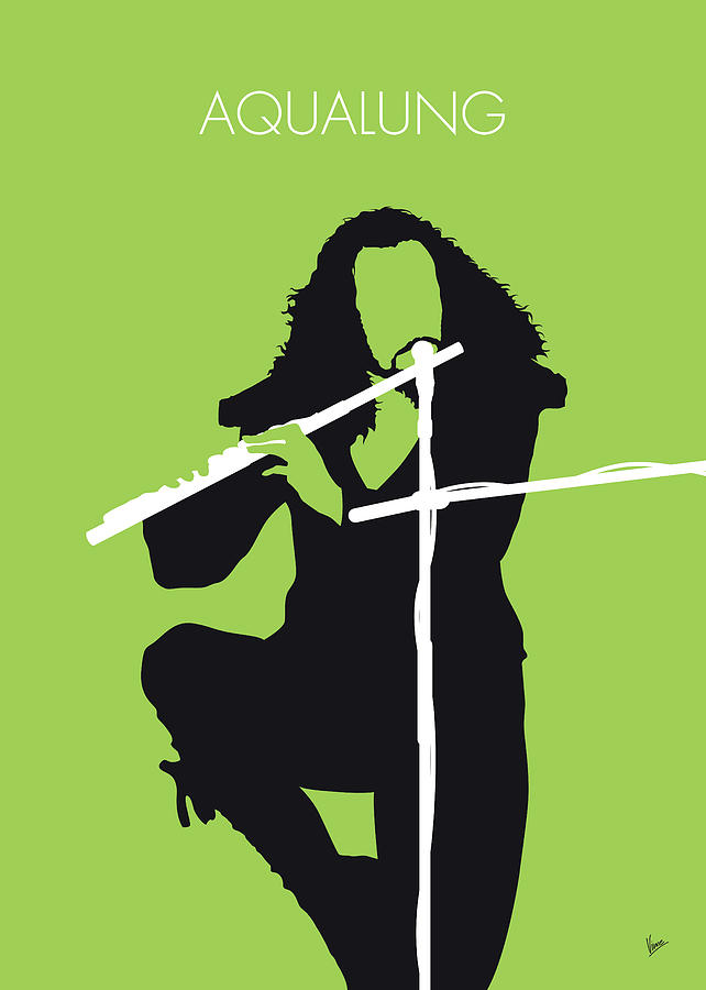 Jethro Digital Art - No146 My Ian Anderson Minimal Music Poster by Chungkong Art