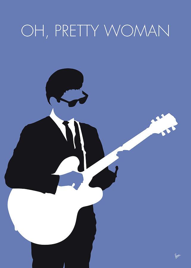 Roy Digital Art - No158 My Roy Orbison Minimal Music Poster by Chungkong Art