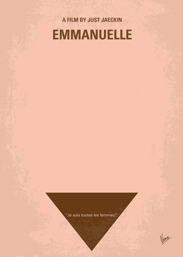 Emanuelle Digital Art - No160 My Emmanuelle Minimal Movie Poster by Chungkong Art