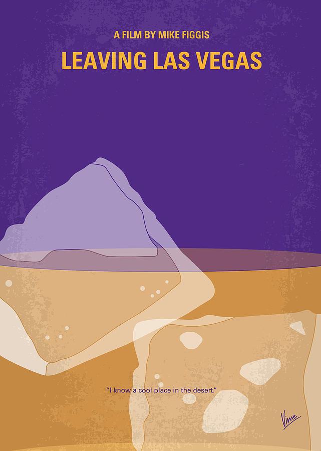 Leaving Digital Art - No180 My Leaving Las Vegas minimal movie poster by Chungkong Art