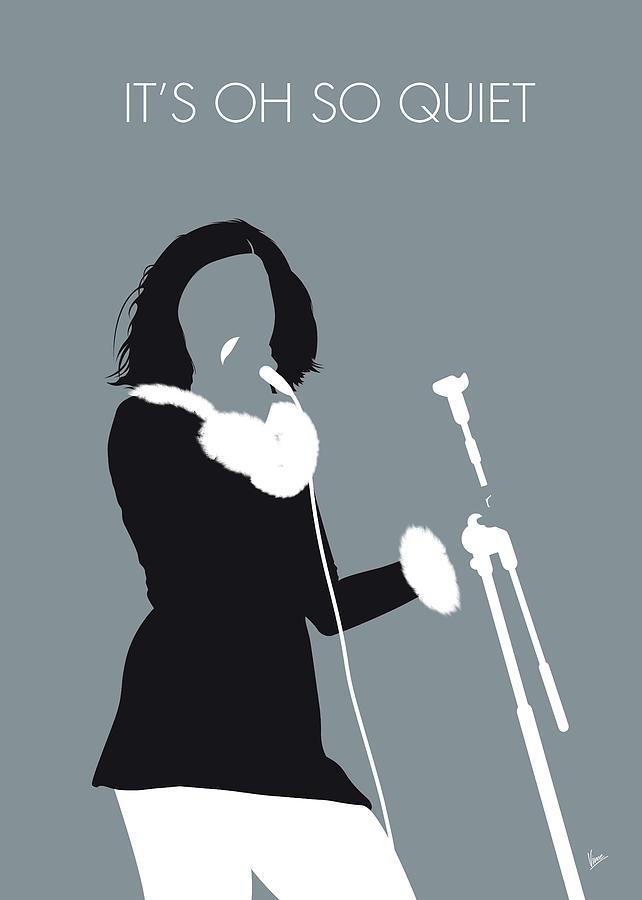 Bjork Digital Art - No187 My Bjork Minimal Music Poster by Chungkong Art