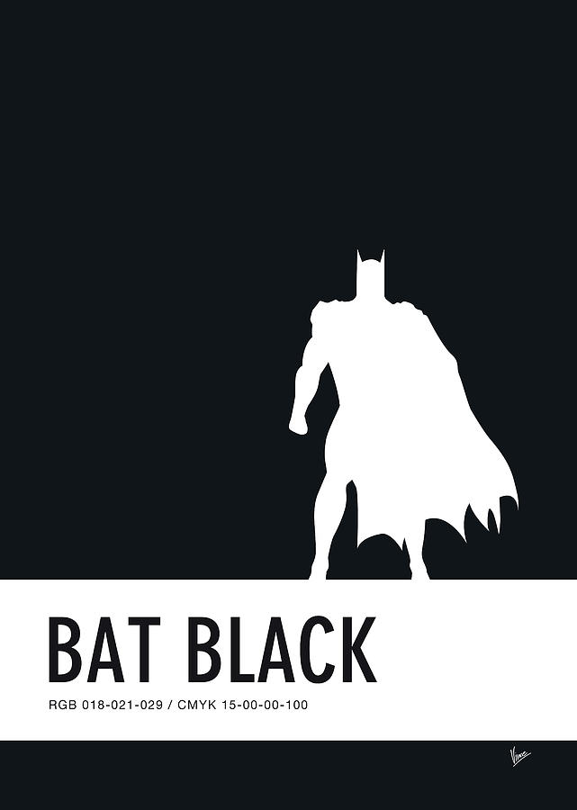 Superhero Digital Art - No20 My Minimal Color Code Poster Batman by Chungkong Art