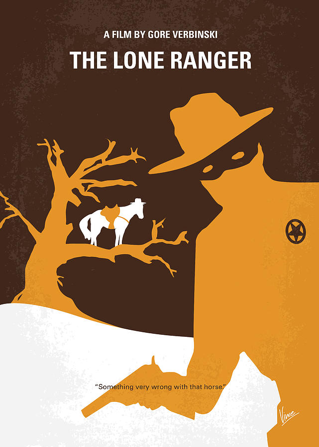 Lone Digital Art - No202 My The Lone Ranger Minimal Movie Poster by Chungkong Art