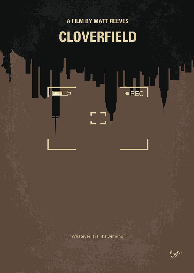 Cloverfield Digital Art - No203 My Cloverfield Minimal Movie Poster by Chungkong Art