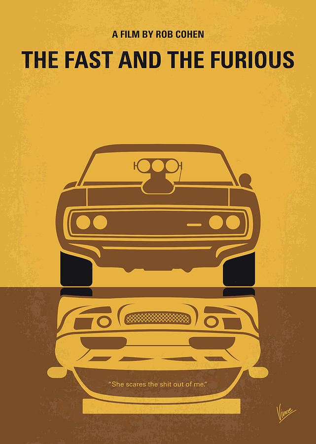 No207 My The Fast And The Furious Minimal Movie Poster