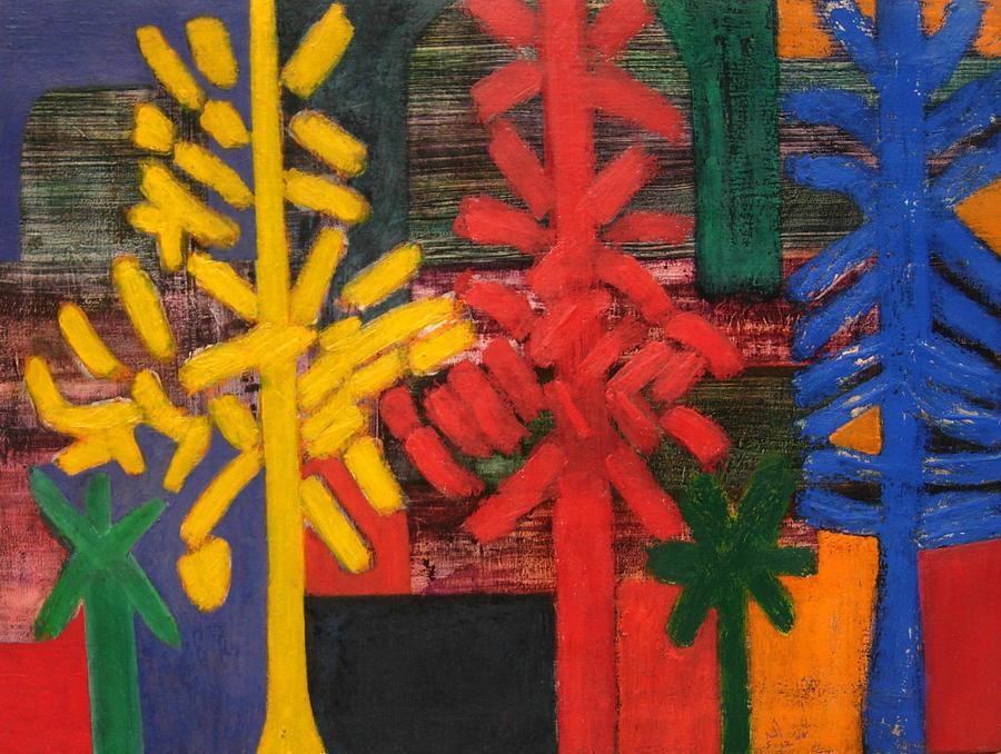 Abstract Painting - No.307 by Vijayan Kannampilly