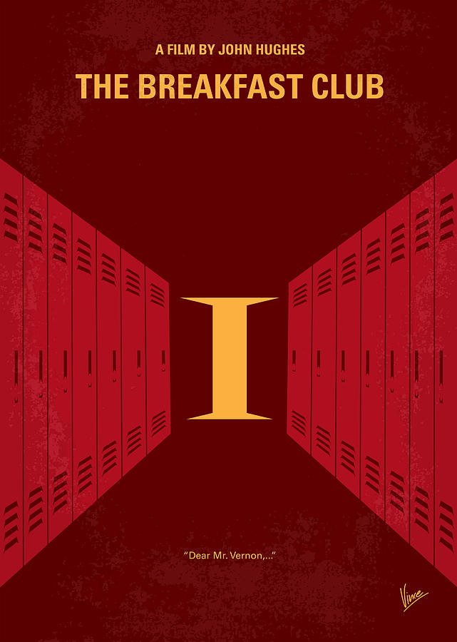 Breakfast Digital Art - No309 My The Breakfast Club Minimal Movie Poster by Chungkong Art