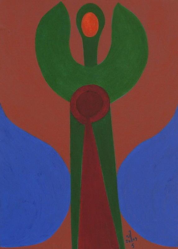 Abstract Painting - No.340 by Vijayan Kannampilly