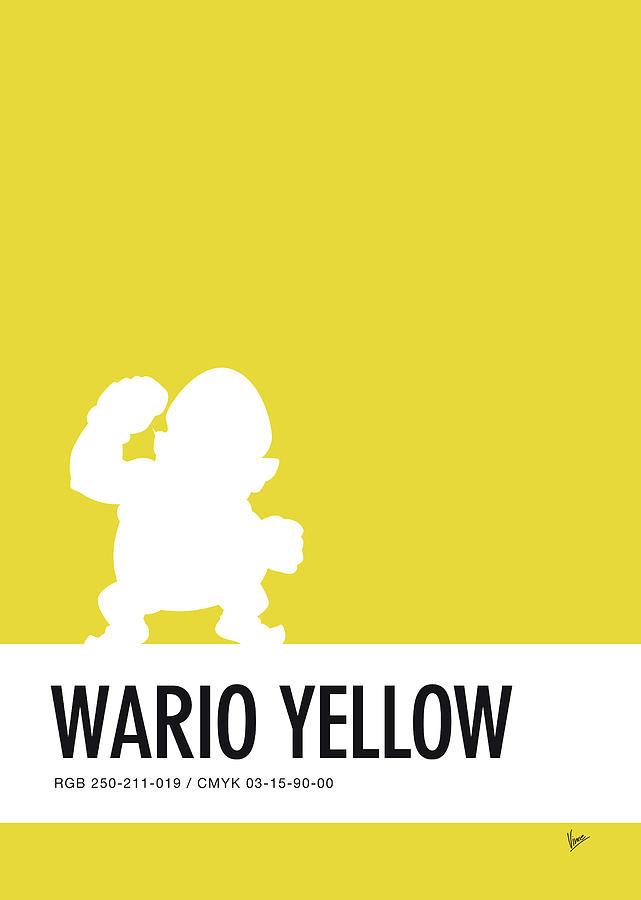 Mario Digital Art - No43 My Minimal Color Code Poster Wario by Chungkong Art