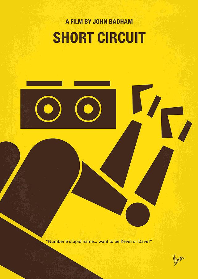 Short Digital Art - No470 My Short Circuit Minimal Movie Poster by Chungkong Art
