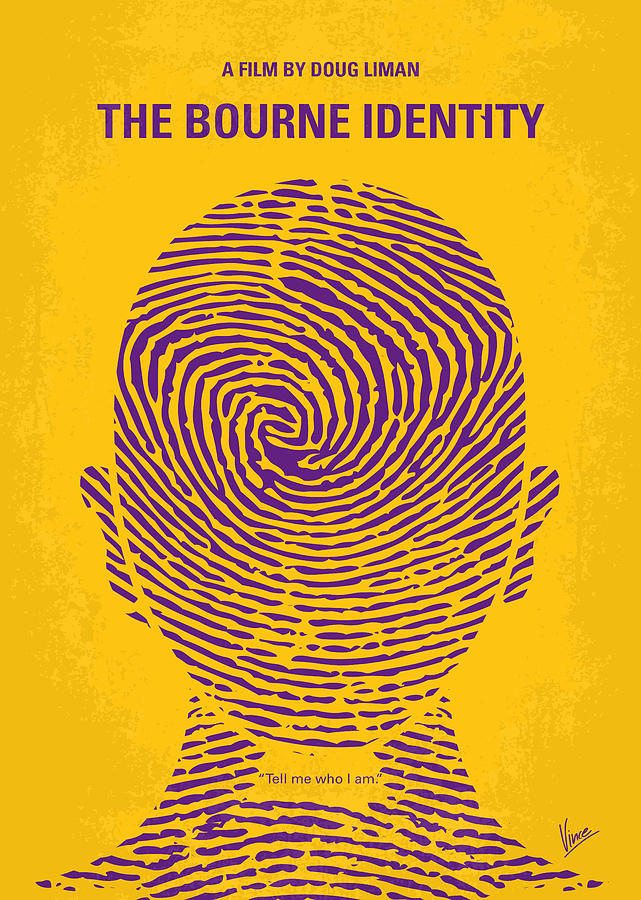 The Digital Art - No439 My The Bourne Identity Minimal Movie Poster by Chungkong Art