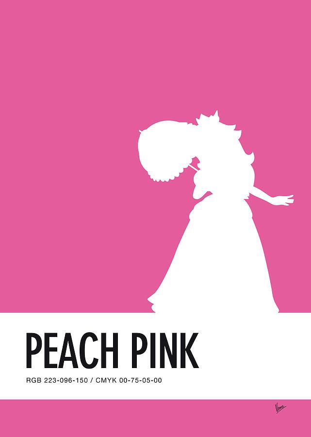 Mario Digital Art - No44 My Minimal Color Code Poster Peach by Chungkong Art