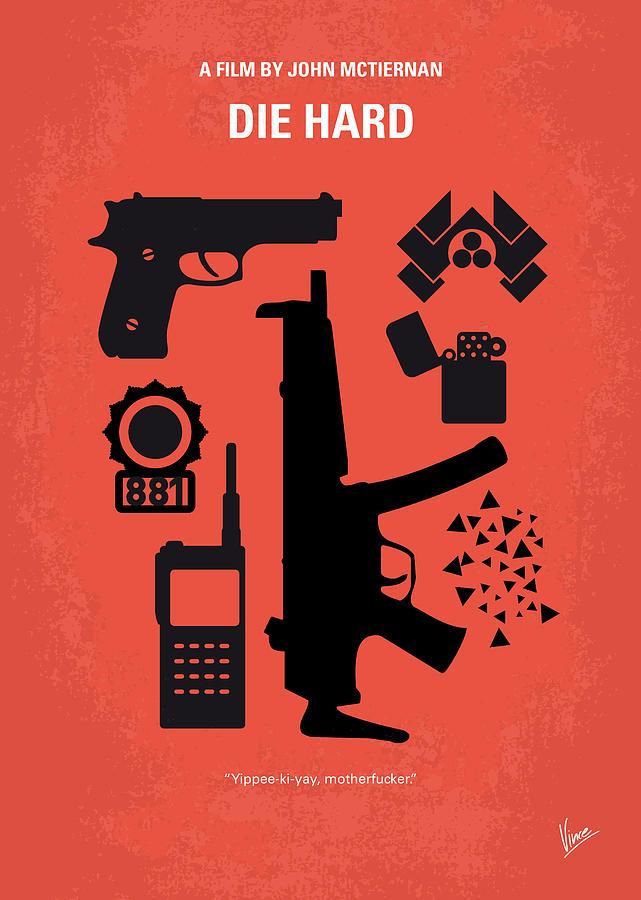 Die Digital Art - No453 My Die Hard minimal movie poster by Chungkong Art