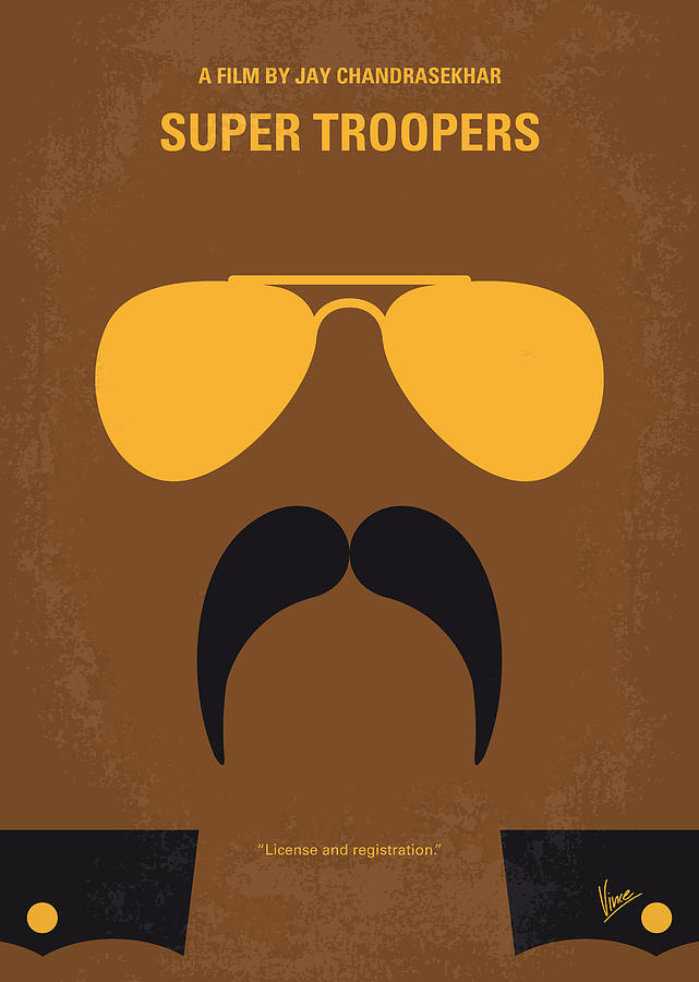 Vermont Digital Art - No459 My Super Troopers Minimal Movie Poster by Chungkong Art