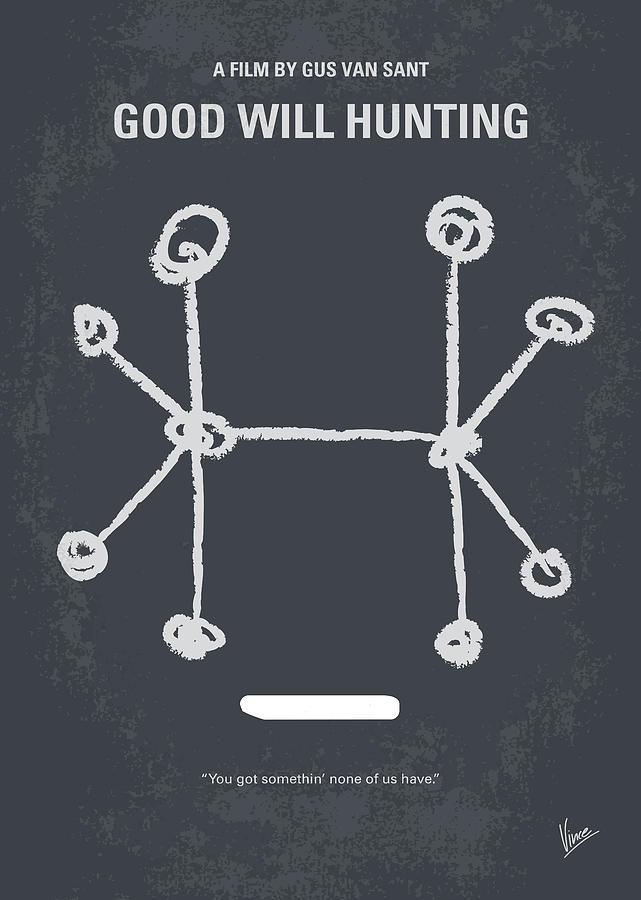 Good Digital Art - No461 My Good Will Hunting minimal movie poster by Chungkong Art