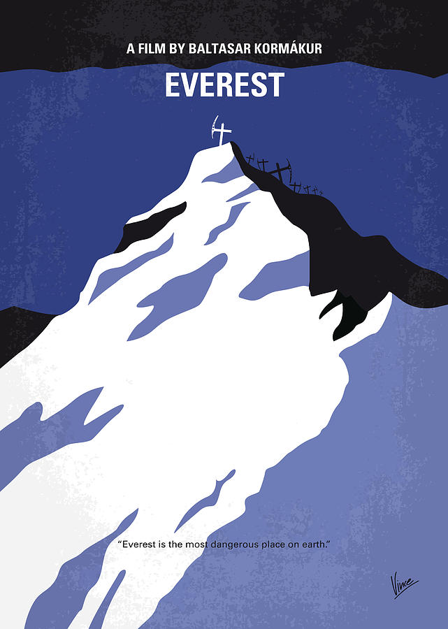 Everest Digital Art - No492 My Everest Minimal Movie Poster by Chungkong Art