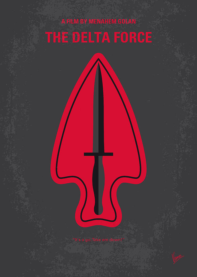 No493 My The Delta Force Minimal Movie Poster Digital Art By