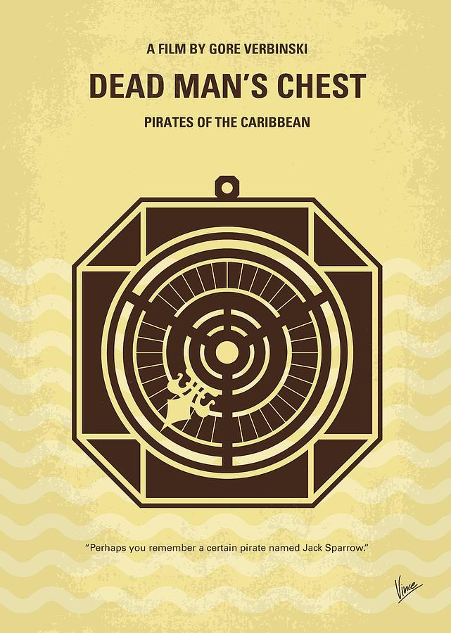 Pirates Digital Art - No494-2 My Pirates Of The Caribbean II Minimal Movie Poster by Chungkong Art