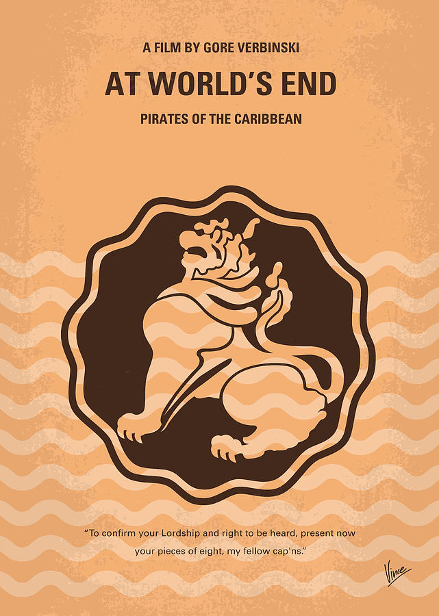 Pirates Digital Art - No494-3 My Pirates Of The Caribbean IIi Minimal Movie Poster by Chungkong Art