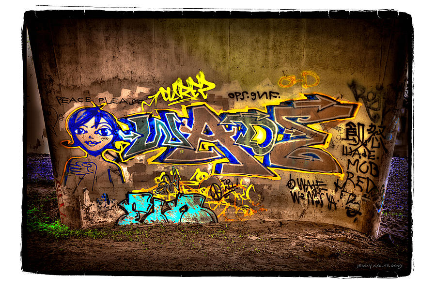 Graffiti Photograph - No.5 by Jerry Golab
