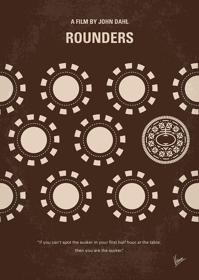 Rounders Digital Art - No503 My Rounders Minimal Movie Poster by Chungkong Art