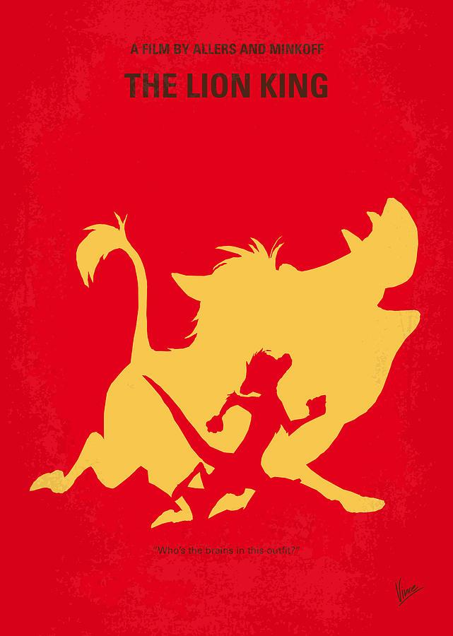 Lion Digital Art - No512 My The Lion King Minimal Movie Poster by Chungkong Art
