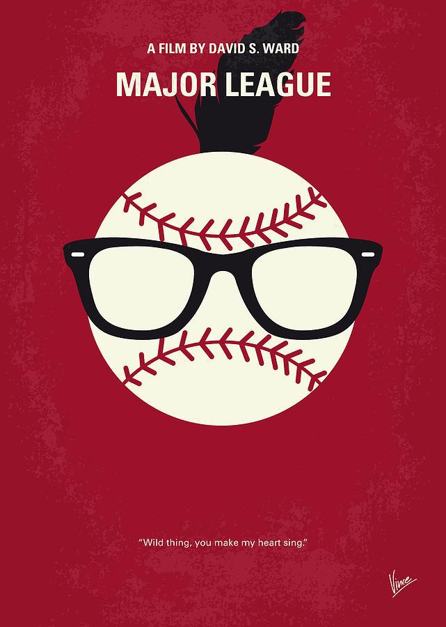 Major Digital Art - No541 My Major League minimal movie poster by Chungkong Art