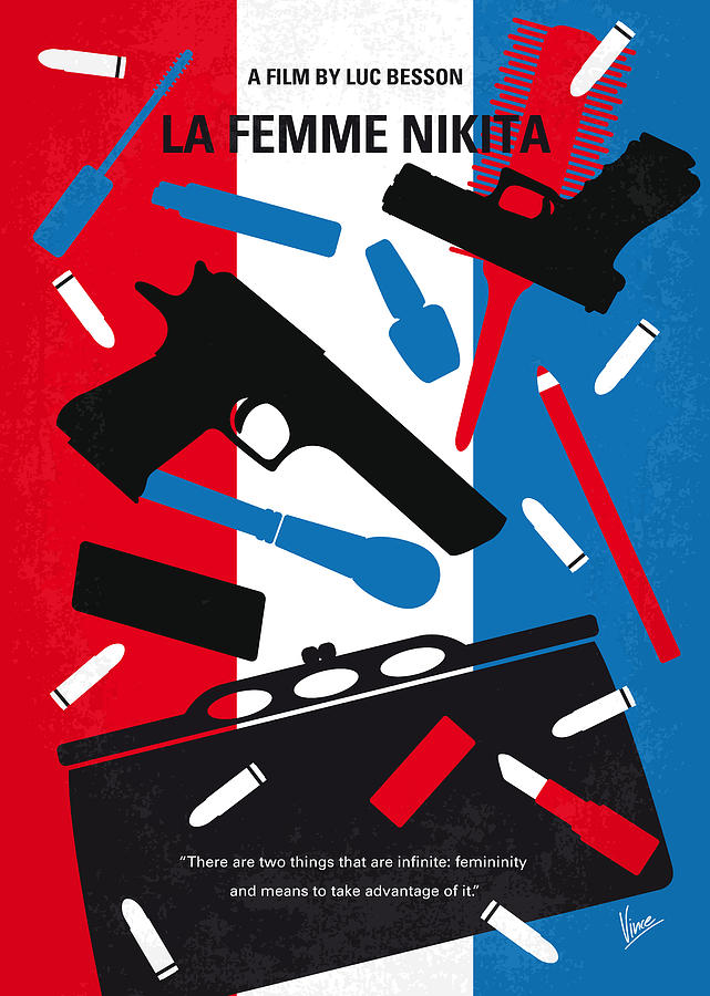La Digital Art - No545 My La Femme Nikita Minimal Movie Poster by Chungkong Art