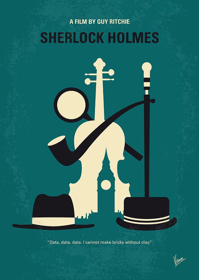 No555 My Sherlock Holmes Minimal Movie Poster by Chungkong Art
