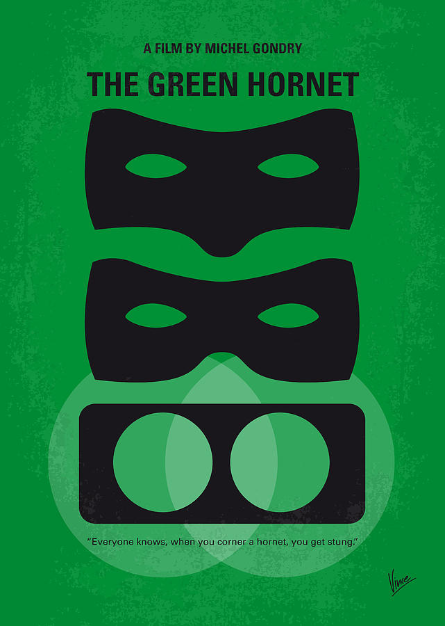 The Digital Art - No561 My The Green Hornet Minimal Movie Poster by Chungkong Art