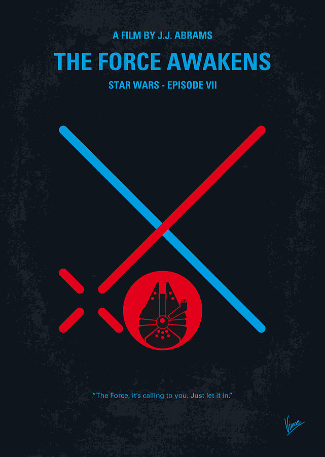 Star Digital Art - No591 My Star Wars Episode Vii The Force Awakens Minimal Movie Poster by Chungkong Art
