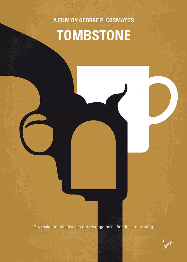 Tombstone Digital Art - No596 My Tombstone Minimal Movie Poster by Chungkong Art