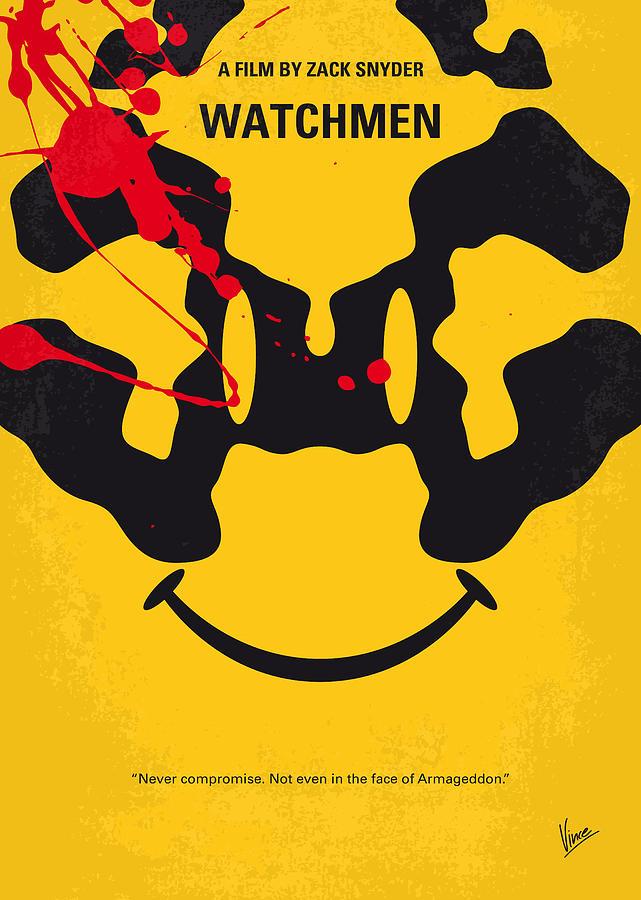 Watchmen Digital Art - No599 My Watchmen Minimal Movie Poster by Chungkong Art