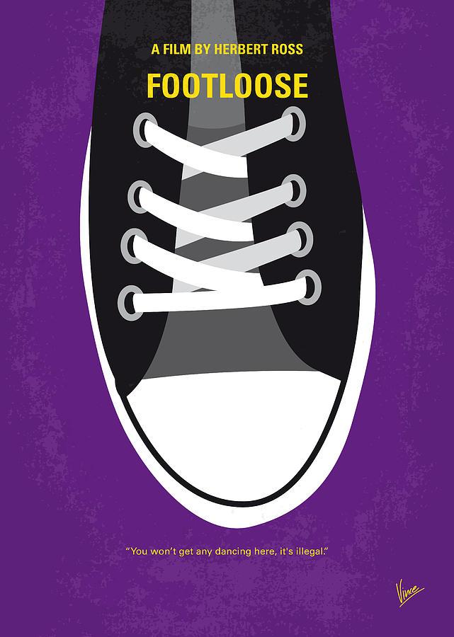 Footloose Digital Art - No610 My Footloose Minimal Movie Poster by Chungkong Art