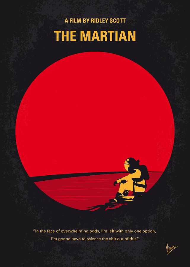 The Digital Art - No620 My The Martian minimal movie poster by Chungkong Art
