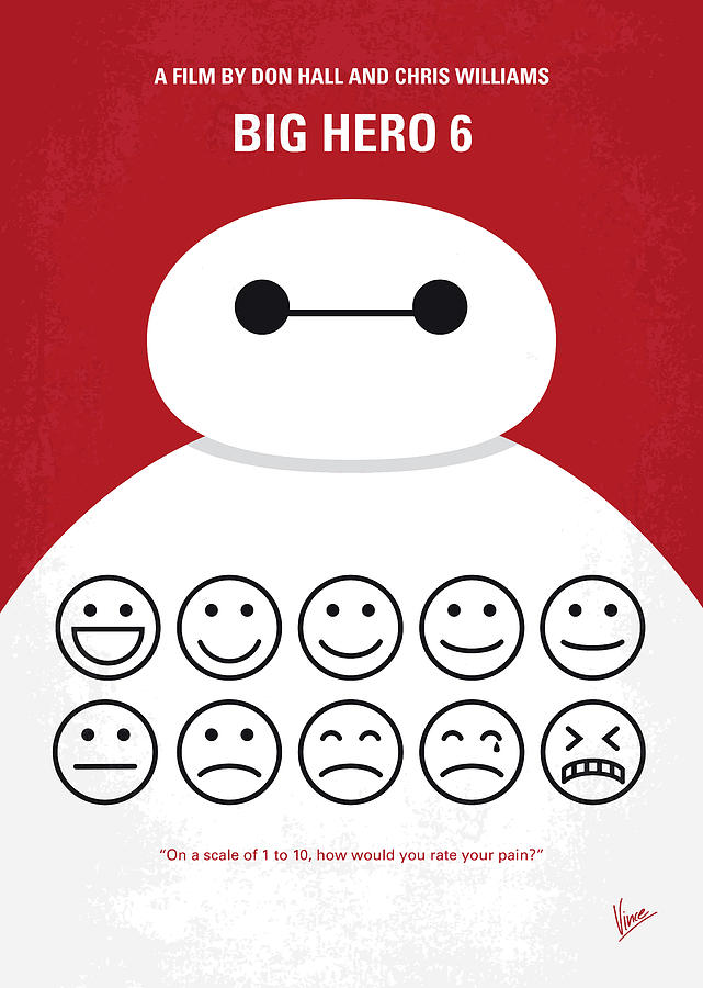 No649 My Big Hero 6 Minimal Movie Poster Digital Art by ...