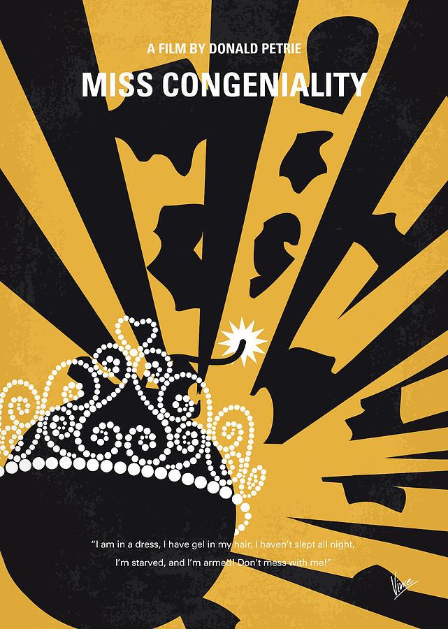No652 My Miss Congeniality Minimal Movie Poster