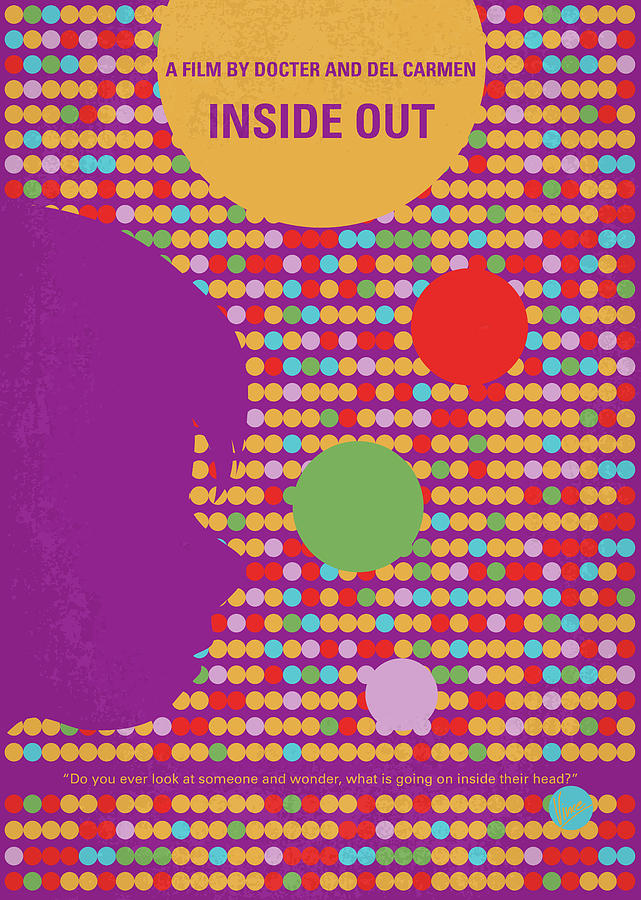 Inside Digital Art - No664 My Inside Out minimal movie poster by Chungkong Art