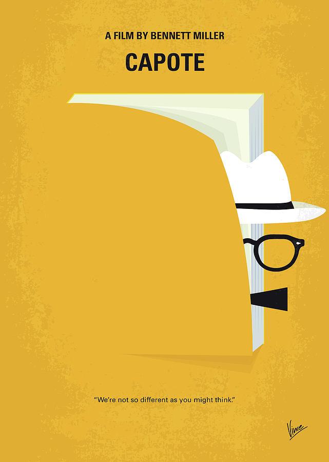 Capote Digital Art - No671 My Capote Minimal Movie Poster by Chungkong Art