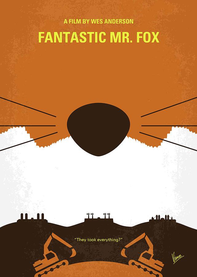 Fantastic Digital Art - No673 My Fantastic Mr Fox Minimal Movie Poster by Chungkong Art