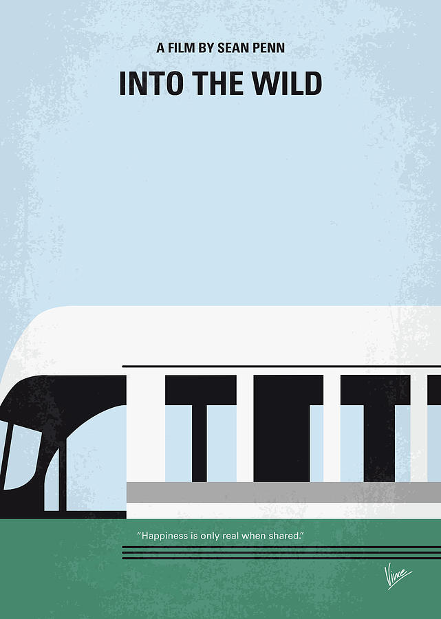 Into Digital Art - No677 My Into The Wild Minimal Movie Poster by Chungkong Art