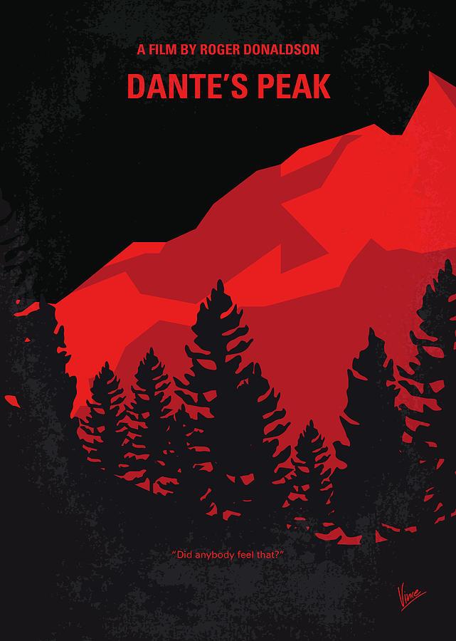 No682 My Dantes Peak Minimal Movie Poster By Chungkong Art