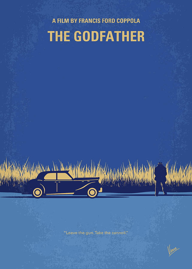 The Digital Art - No686-1 My Godfather I Minimal Movie Poster by Chungkong Art