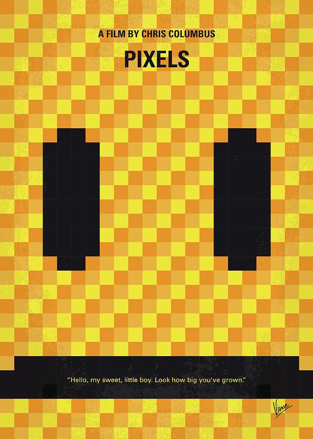 Pixels Digital Art - No703 My Pixels Minimal Movie Poster by Chungkong Art