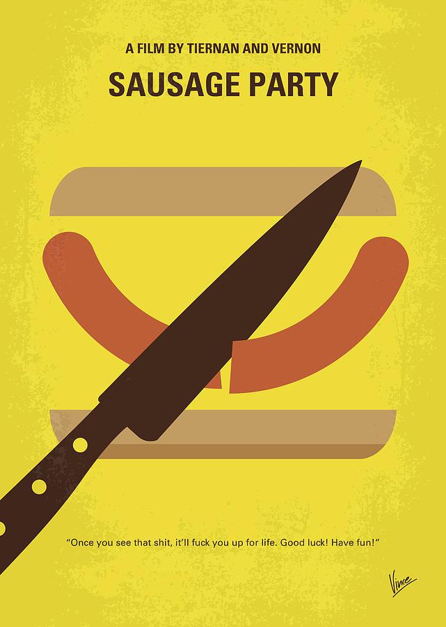 Sausage Digital Art - No704 My Sausage Party minimal movie poster by Chungkong Art