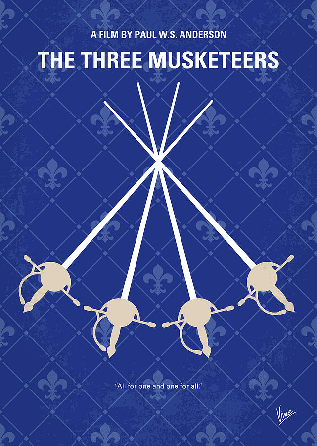 Three Digital Art - No724 My The Three Musketeers Minimal Movie Poster by Chungkong Art